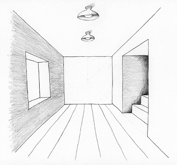 Lesson 22 A Room in One Point Perspective You Can Draw