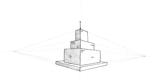 Lesson 24: A Tower in Two-Point Perspective (You Can Draw in 30 Days)