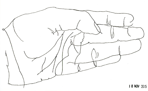 November's Blind Contour Drawings